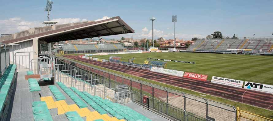 Inside empty Stadio Pier Cesare Tombolato