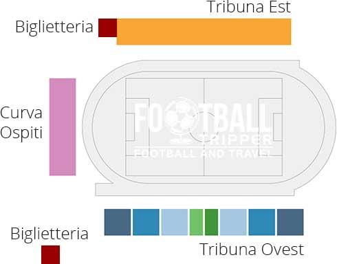 Stadio Piercesare Tombolato map