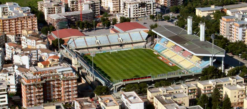 Aerial view of Stadio Pino Zaccheria