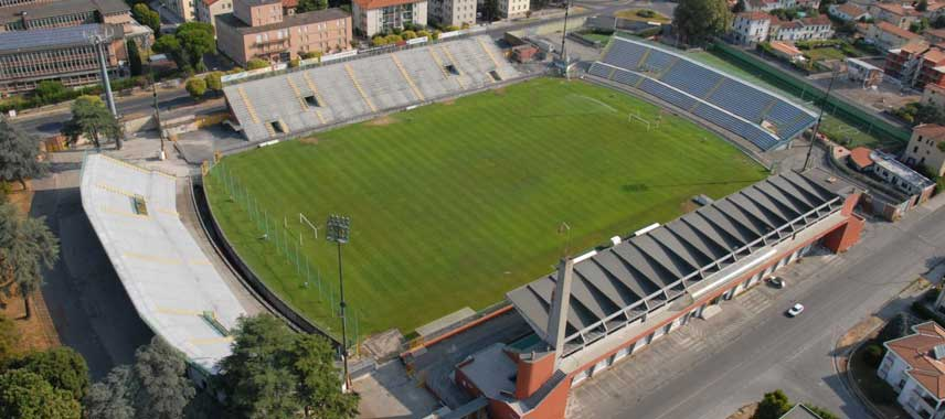 Aerial view of Stadio Porta Elisa