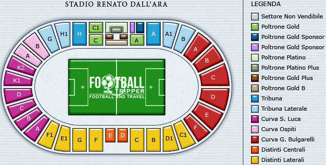 Stadio Renato Dall'ara Seating Plan