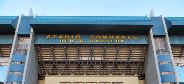Main entrance of Renzo Barbera Stadium