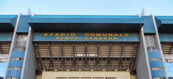 Main entrance of Renzo Barbera Stadium