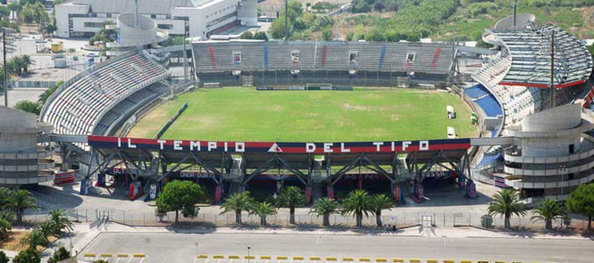Aerial view of Stadio Riviera Delle Palme