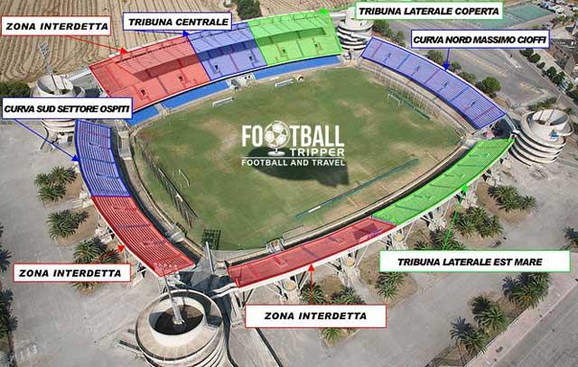 Stadio Riviera delle Palme map