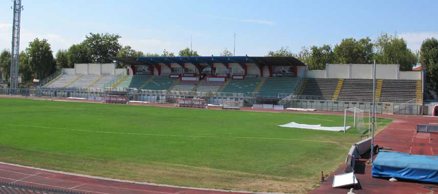 Main stand at Stadio Romeno Neri