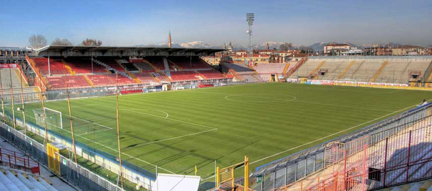 View overlooking the main stand at Romeo Menti