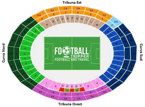 Stadio San Nicola Seating Plan