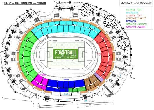 stadio san paolo Seating Plan