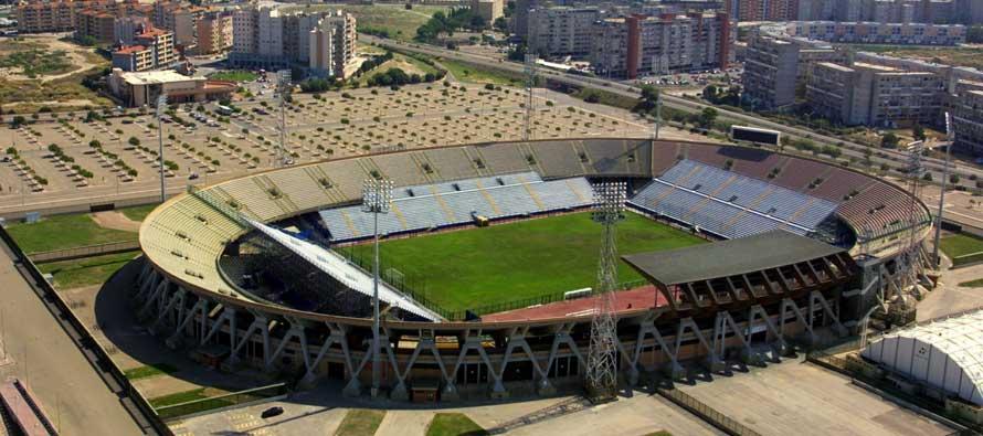 Aerial view of Stadio Sant'Elia Cagliari