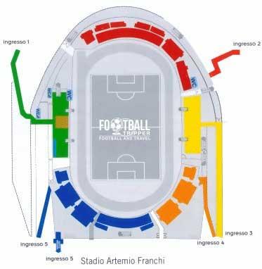Siena's Artemio Franchi seating plan