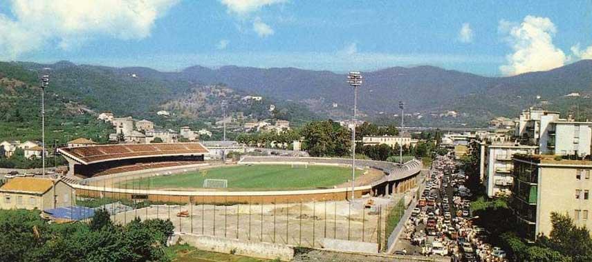 Aerial view of Stadio Valerio Bacigalupo