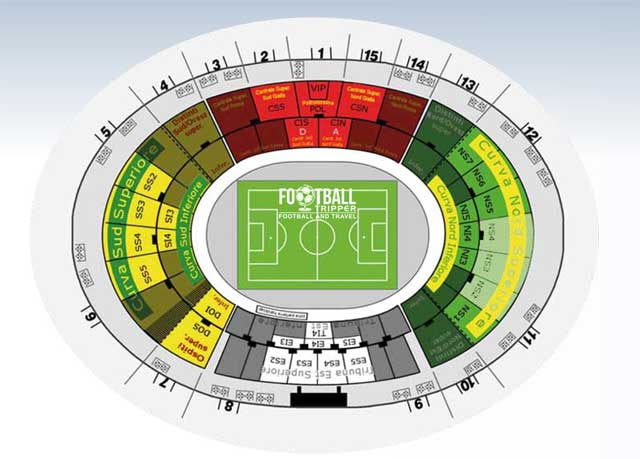 Stadio Via del Mare map