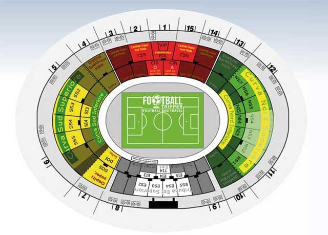 Stadio Via del Mare map