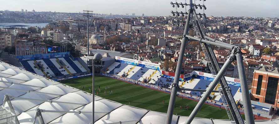 Aerial view of Stadion Kasimpasa