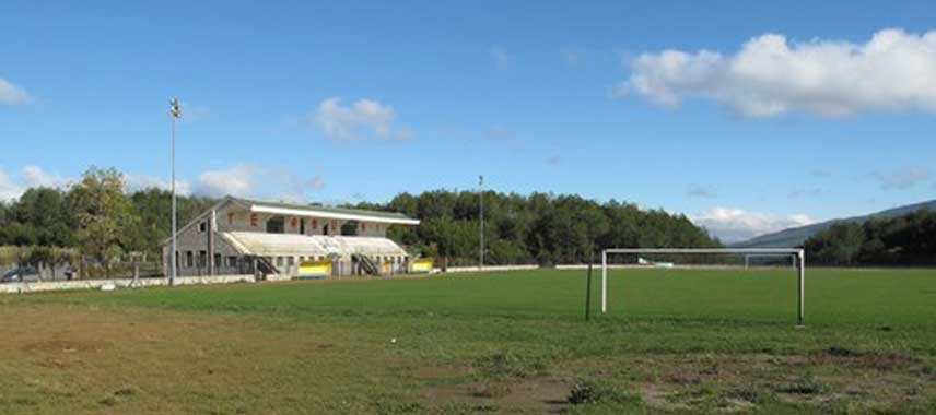 Main stand of Ismail Xhemali Stadium