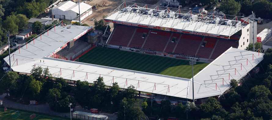 aerial view stadion an der alten forsterei