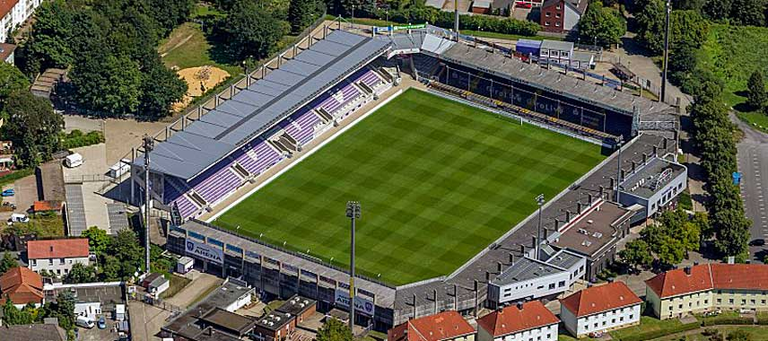 Aerial view of Stadion an der Bremer Brucke