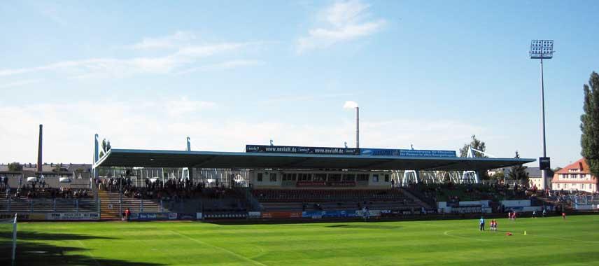 Main stand of Stadion an der Gellerstrabe