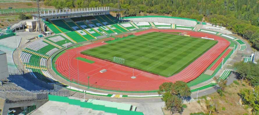 aerial view of stadion beroe