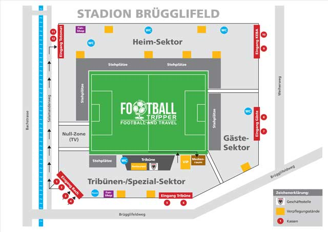 Stadion Brügglifeld seating plan