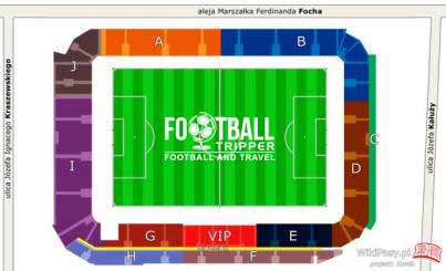Stadion Cracovia seating plan