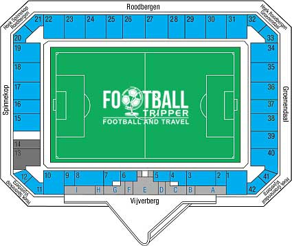 Stadion De Vijverberg seating map