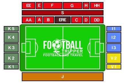 Stadion Den Dreef seating chart