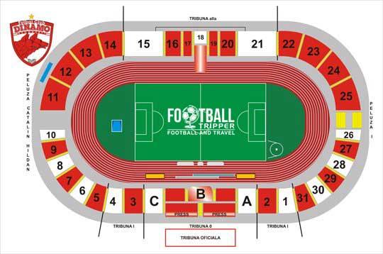 Stadionul Dinamo seating chart