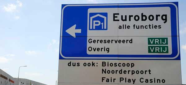 Car Park SIgn Euroborg Stadion