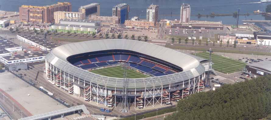 Aerial view of Stadion Feijenoord