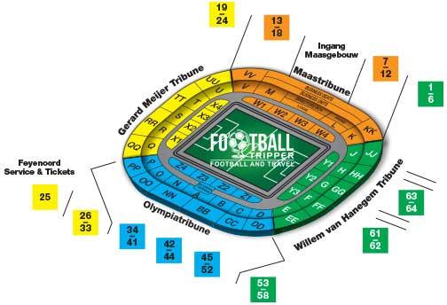 Stadion Feyenoord seating map