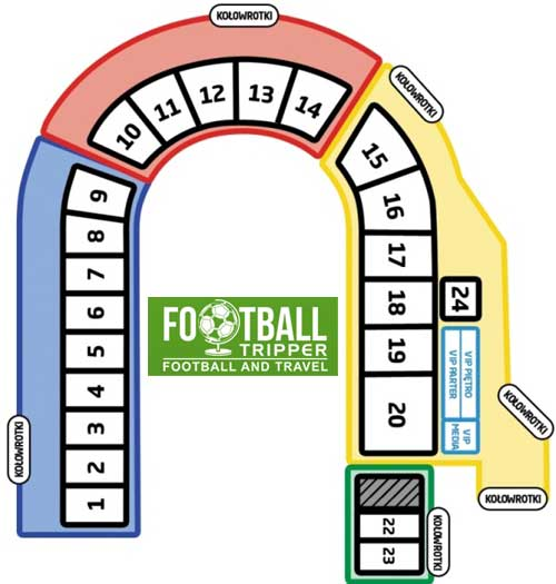 Stadion Florian Krygier seating plan