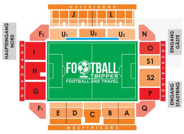 Stadion der Freundschaft seating plan