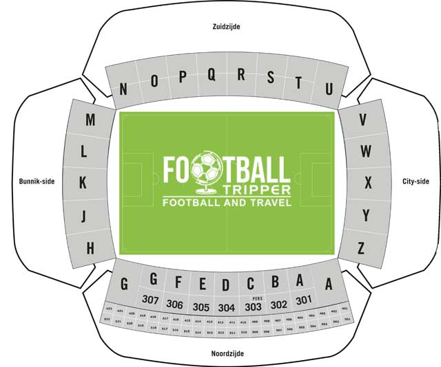 Stadion Galgenwaard seating plan
