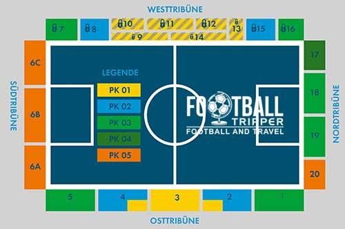 Stadion an der Gellertstraße map