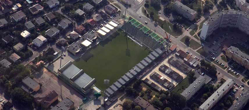 Aerial view of Stadion GKS Belchatow