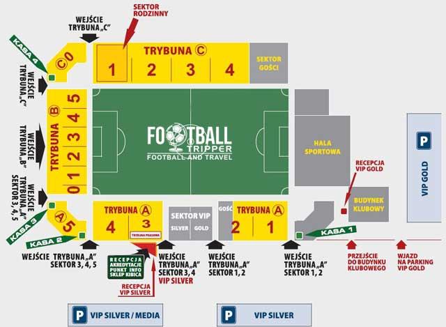 Stadion Górnika Łęczna map