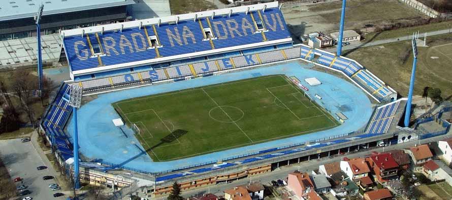 Aerial view of Stadion Gradski VRT