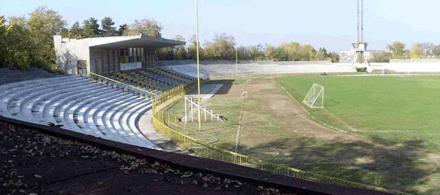 inside empty stadion haskovo