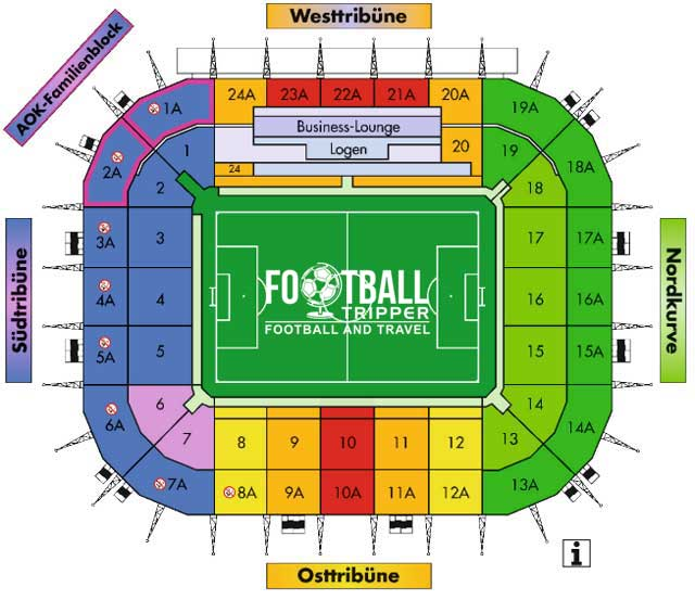 Stadion im Borussia Park Seating Plan