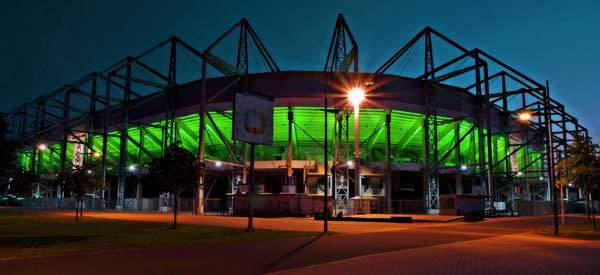 Stadion Im Borussia at night