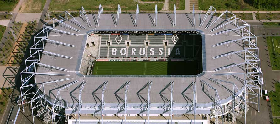 Aerial view of Borussia Park Stadium