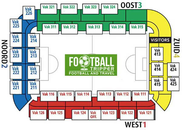 Seating chart of Jan Breydel Stadium