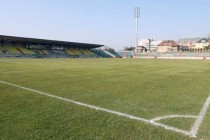 Corner flag view of the pitch at Josy Barthel
