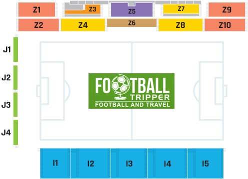 Stadion Kantrida seating map