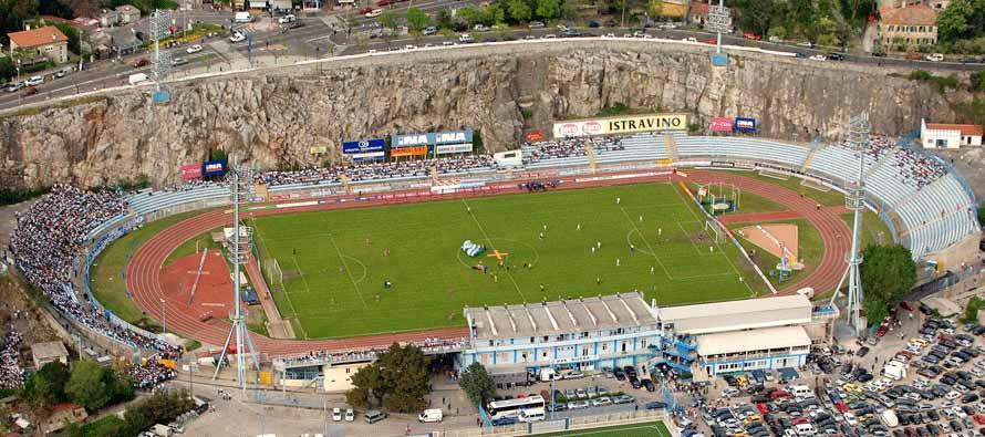 Aerial view of Stadion Kantrida