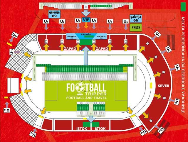 Stadion Karađorđe seating chart