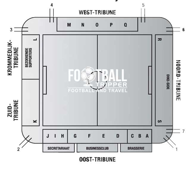 Stadion Krommedijk seating chart