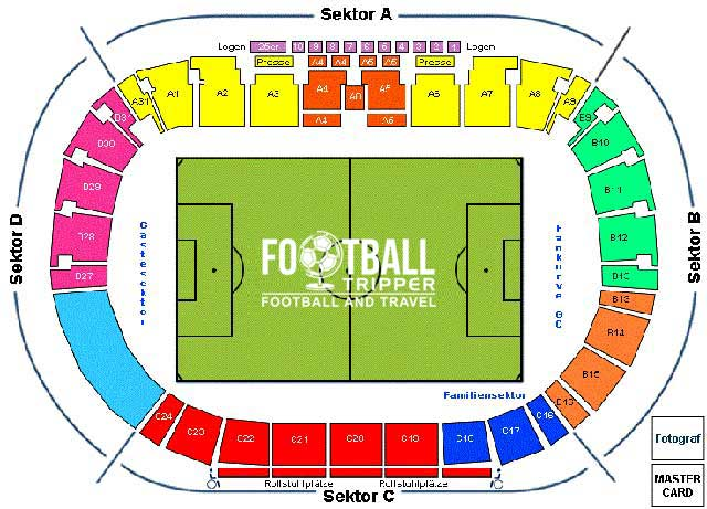 Stadion Letzigrund seating chart